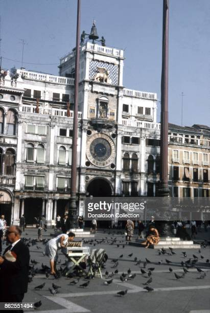 A view of St Mark's Clocktower in the Piazza San Marco on September 12 1963 in Venice Italy