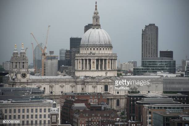 View of St Paul's Cathedral and it's dome London on June 27 2017 St Paul's Cathedral London is an Anglican cathedral the seat of the Bishop of London...