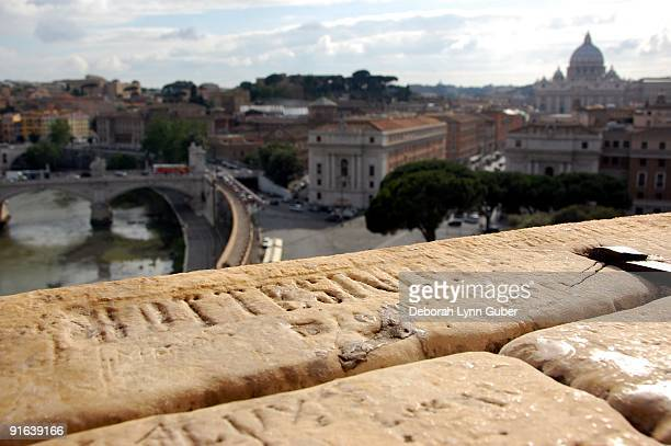 View of St. Peter's from Castel Sant'Angelo