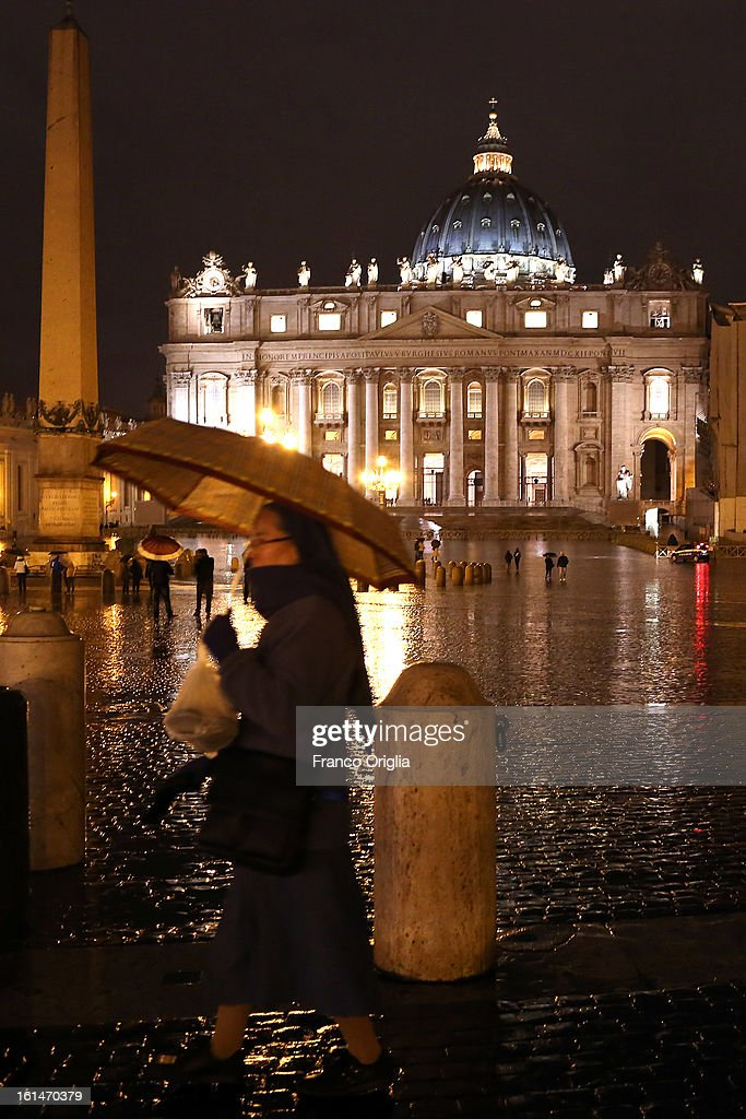 A view of St. Peter's Square on February 11, 2013 in Vatican City, Vatican. Pope Benedict XVI today announced that he is to retire on February 28 citing age related health reasons.
