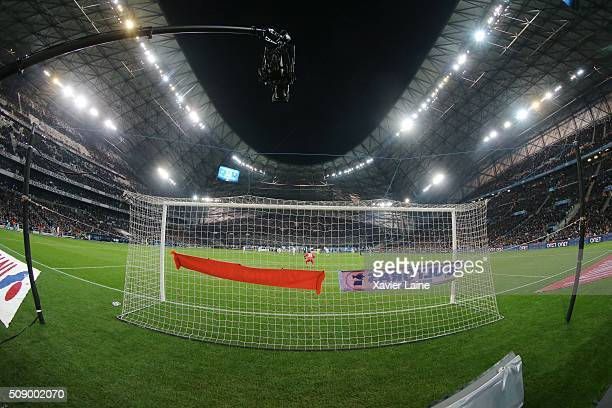 A view of stade velodrome during the French Ligue 1 between Olympique de Marseille and Paris SaintGermain at Stade Velodrome on february 7 2016 in...