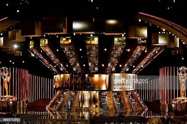 View of stage during the 67th Annual Primetime Emmy Awards at Microsoft Theater on September 20 2015 in Los Angeles California
