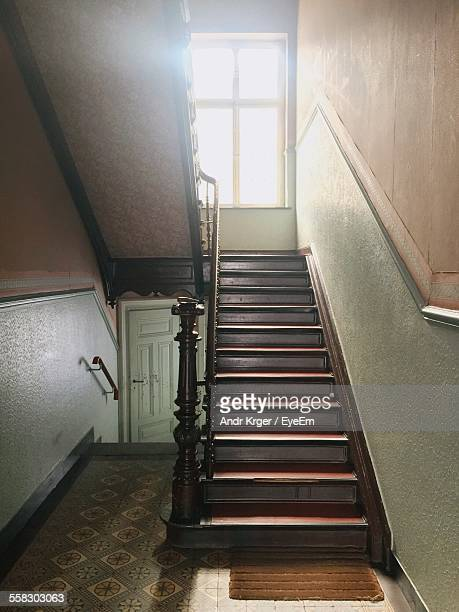 View Of Staircase Illuminated By Sunlight