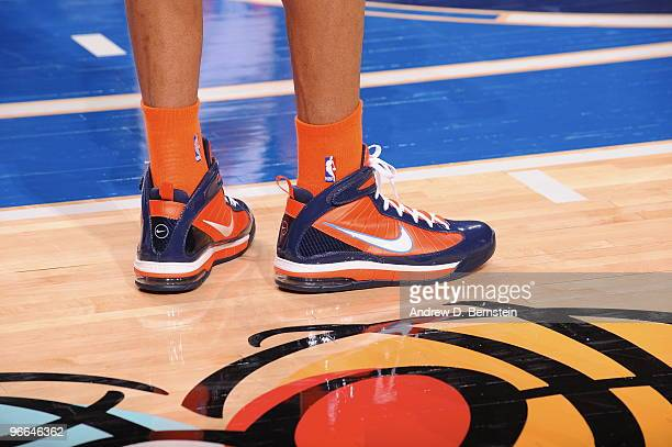 A view of Stephen Curry's sneaker of the Rookie team during 2009 TMobile Rookie Challenge and Youth Jam on February 12 2010 at the American Airlines...