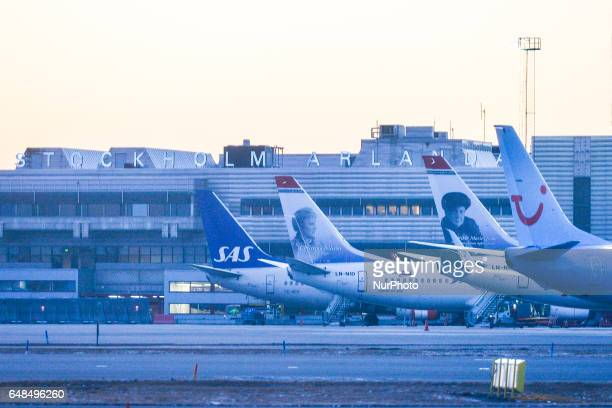 A view of Stockholm Arlanda Airport On Monday March 06 in Stockholm Sweden
