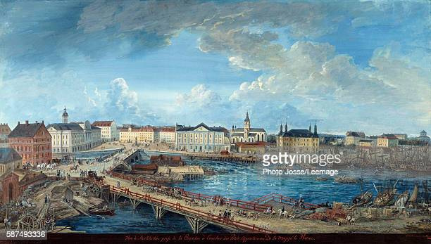 View of Stockholm from the Royal Palace Painting by Elias Martin 1800 National Museum Stockholm Sweden