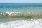 Big Blue Wave Breaks in the Atlantic Ocean