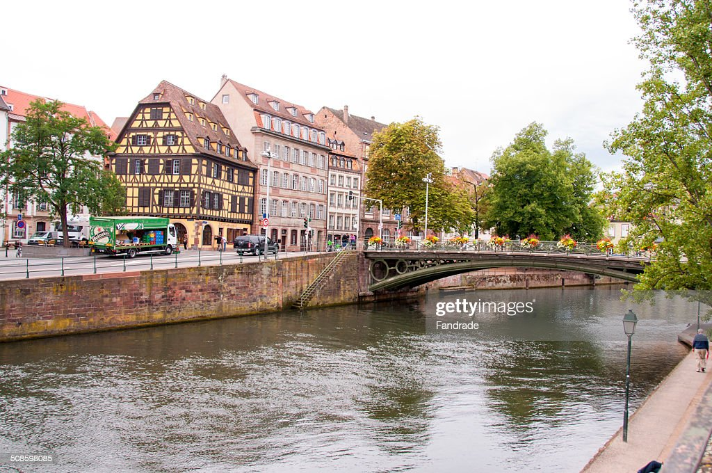 View of Strasbourg Alsace France : Foto de stock