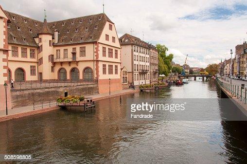 View of Strasbourg Alsace France : Foto de stock