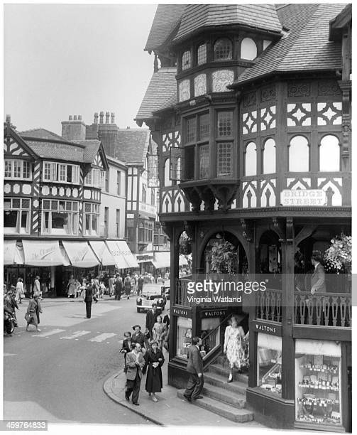 A view of street in Chester England Circa 1940