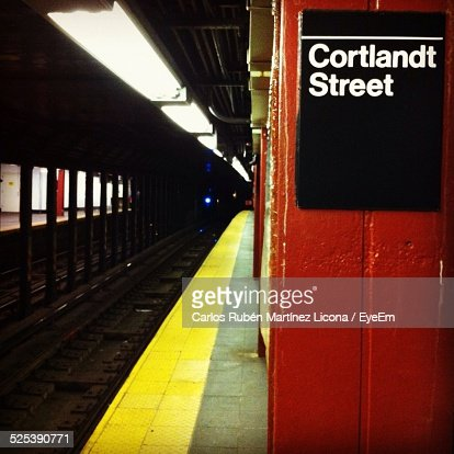 View Of Subway Platform Foto stock   Getty Images