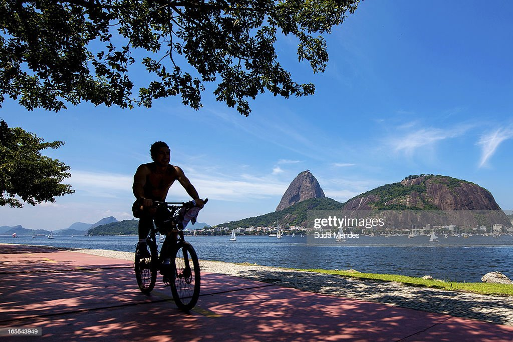 View of Sugar Loaf on April 04, 2013 in Rio de Janeiro, Brazil. In the following years the city will host very important events, such as the Confederations Cup and the World Youth Day t, FIFA World Cup in 2014, America Cup in 2015 and the Summer Olympics in 2016.