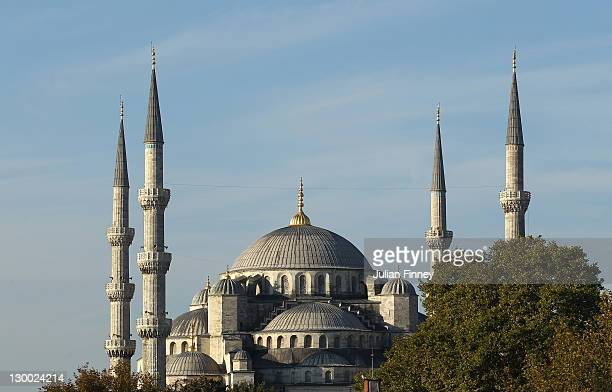 A view of Sultanahmet Mosque during previews for the WTA Championships 2011 on October 23 2011 in Istanbul Turkey