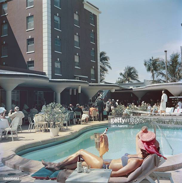 The pool at the Colony Hotel in Palm Beach Florida USA 1955