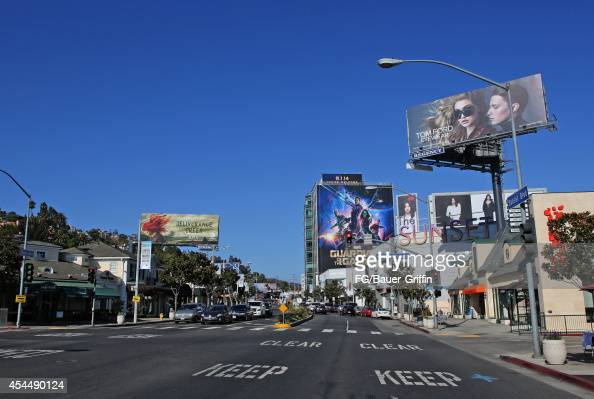 A view of Sunset Plaza in West Hollywood on September 01 2014 in Los Angeles California