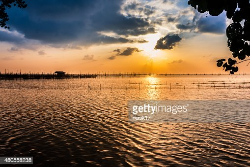 View of sunset Songkhla. : Stock Photo