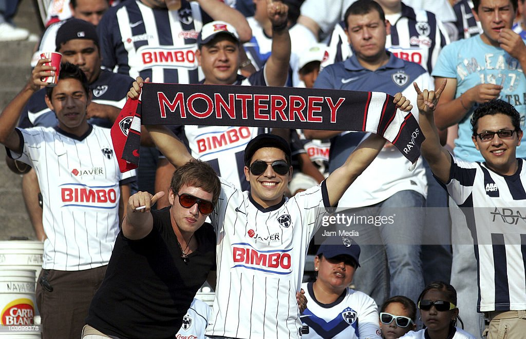 View of supporters of Monterrey before a match against Jaguares as part of the Apertura 2010 at Tecnologico Stadium on August 28, 2010 in Monterrey, Mexico.