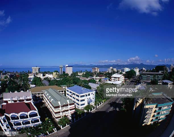 View of Suva, capital of Fiji.