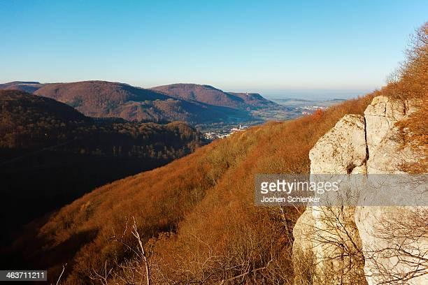 View of Swabian Alb near Lichtenstein