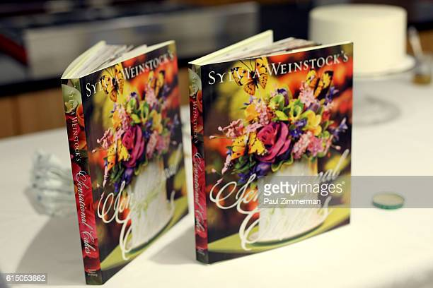 A view of Sylvia Weinstock's book on display at Cake Decorating Master Class hosted by Sylvia Weinstock at Institute of Culinary Education on October...