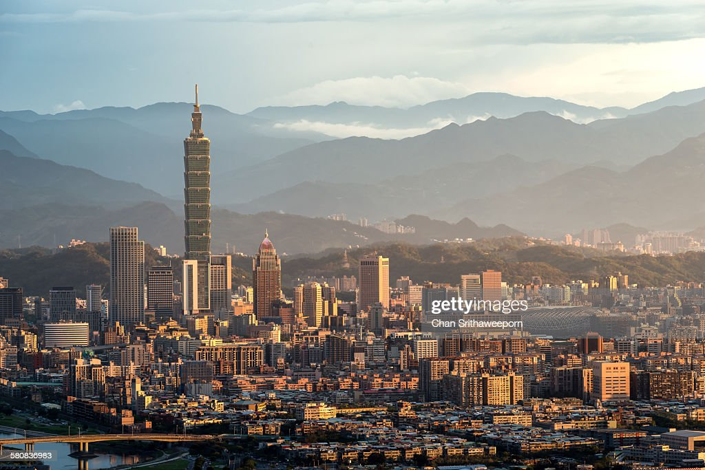 View of Taipei city