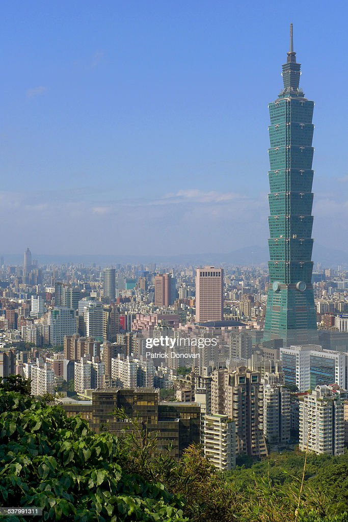 View of Taipei, Taiwan from Elephant Mountain