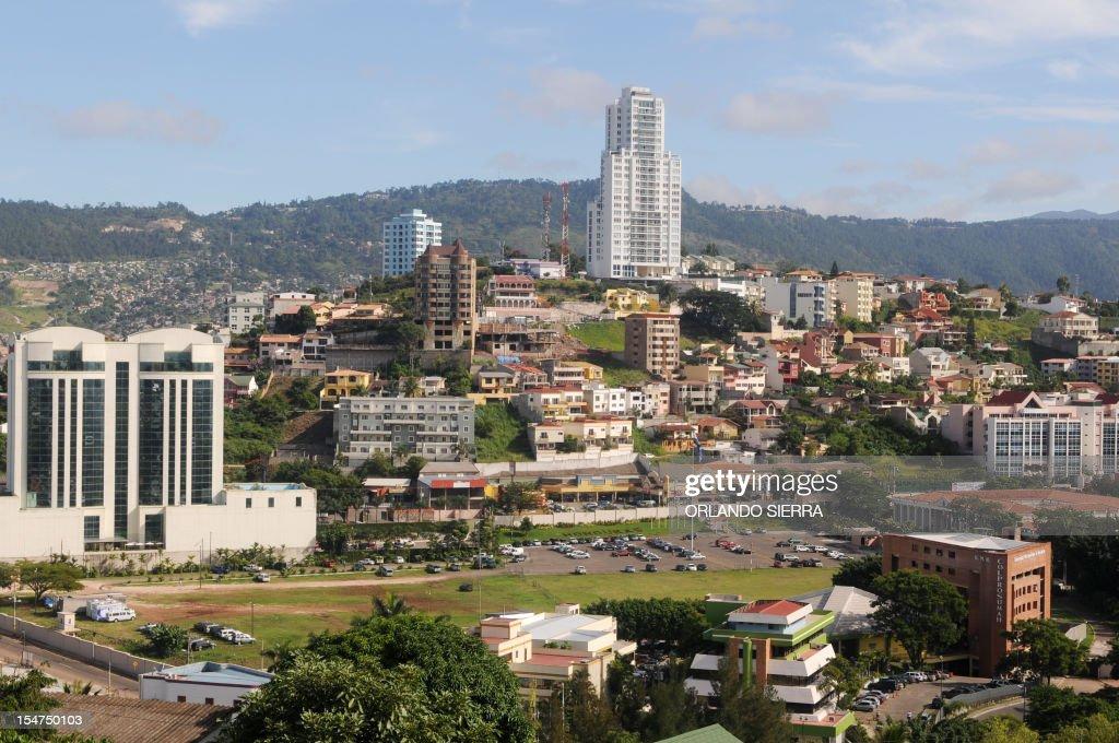 View of Tegucigalpa on October 25 2012 AFP PHOTO/Orlando SIERRA