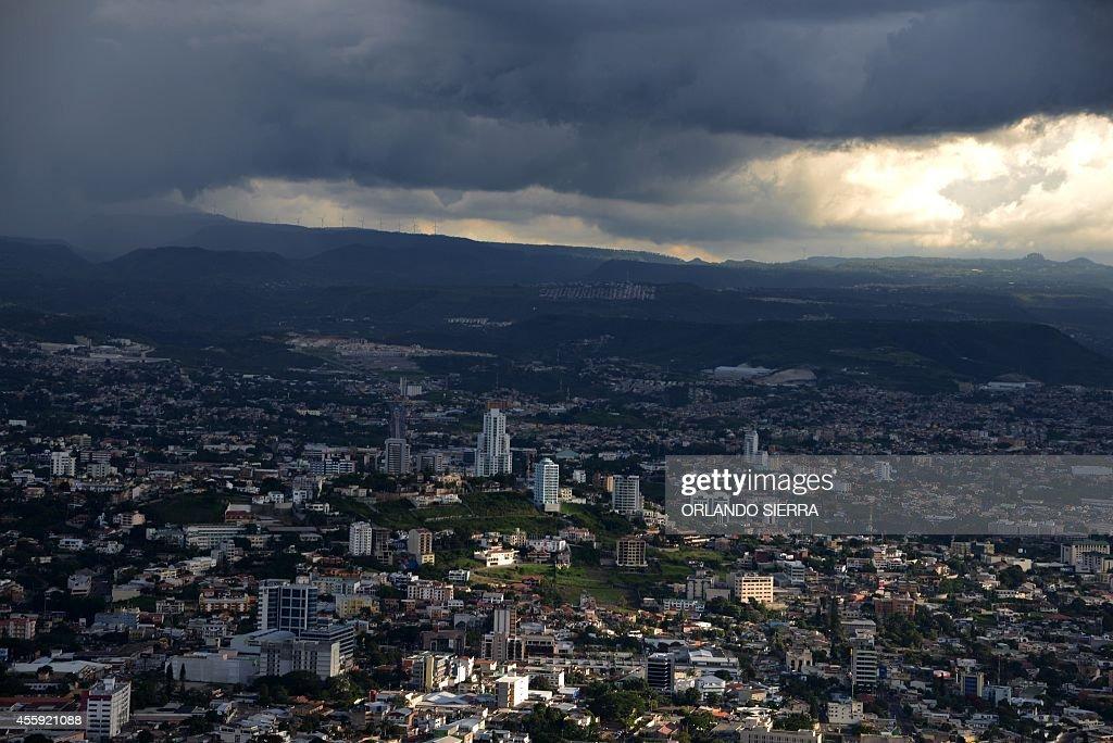 View of Tegucigalpa on September 22 2014 AFP PHOTO/Orlando SIERRA