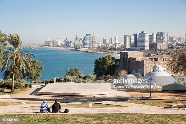View of Tel Aviv from Jaffa old town, Tel Aviv, Israel