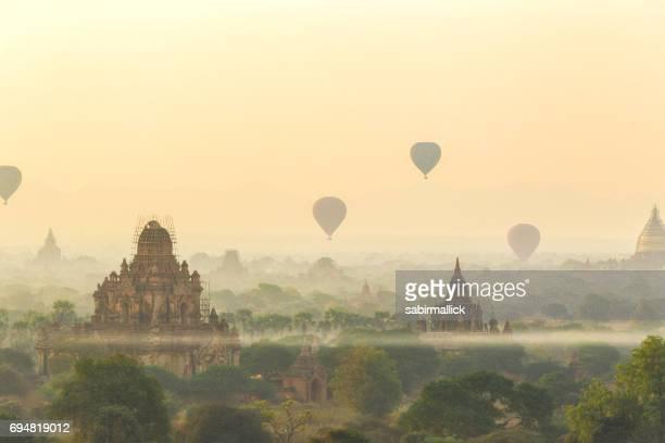 View of Temples of Bagan, Mandalay, Myanmar