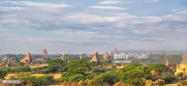 View of Temples of Bagan, Mandalay, Myanmar.
