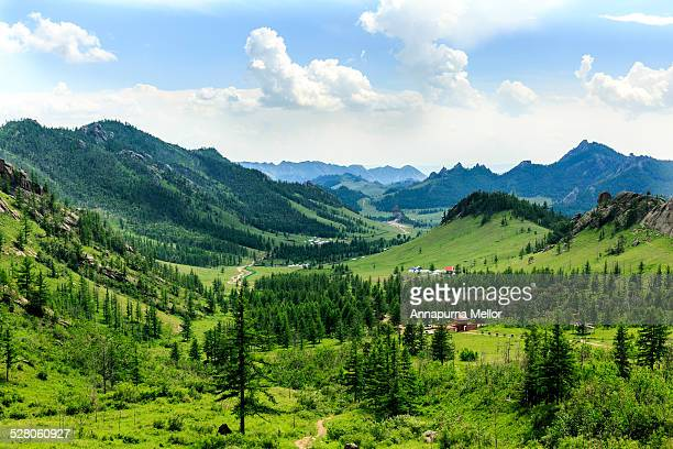 A view of Terelj National Park, Mongolia