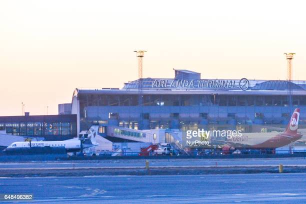 A view of Terminal 2 of Stockholm Arlanda Airport On Monday March 06 in Stockholm Sweden
