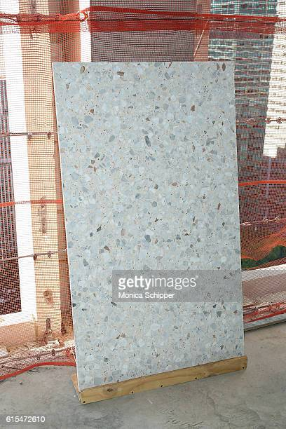A view of Terrazzo flooring on display at The Bryant Topping Out Event on October 18 2016 in New York City