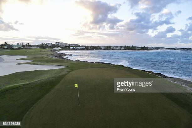 A view of the 12th hole during the second round of The Bahamas Great Exuma Classic at Sandals Emerald Bay Course on January 9 2017 in Great Exuma...