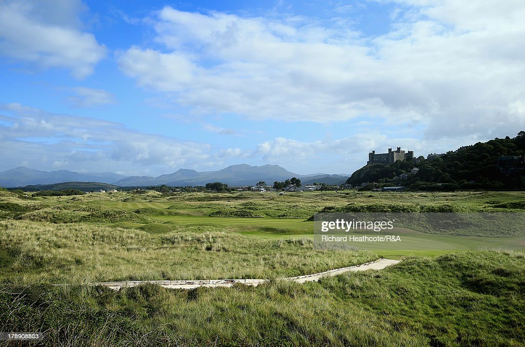 A view of the 15th hole during the second day of the Jacques Leglise Trophy at Royal St David's Golf Club on August 31, 2013 in Harlech, Wales.