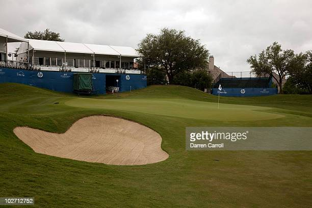 A view of the 16th hole during the HP Byron Nelson Championship at TPC Four Seasons Resort Las Colinas on May 21 2010 in Irving Texas