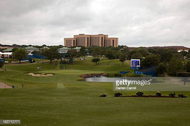A view of the 17th hole during the HP Byron Nelson Championship at TPC Four Seasons Resort Las Colinas on May 21 2010 in Irving Texas