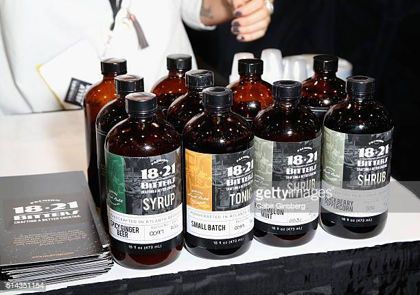 A view of the 1821 Bitters booth during the 31st annual Nightclub Bar Convention and Trade Show on March 8 2016 in Las Vegas Nevada