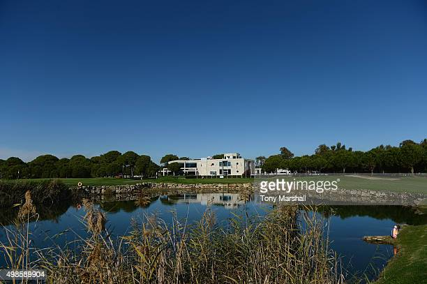 A view of the 18th green and club house during the Golfplan Insurance PGA ProCaptain Challenge supported by Canopius Practice round at Antalya Golf...