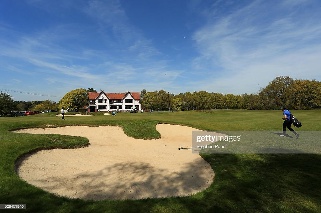 A view of the 18th green and clubhouse during the PGA Assistants Championship East Qualifier at Ipswich Golf Club on May 5, 2016 in Ipswich, England.