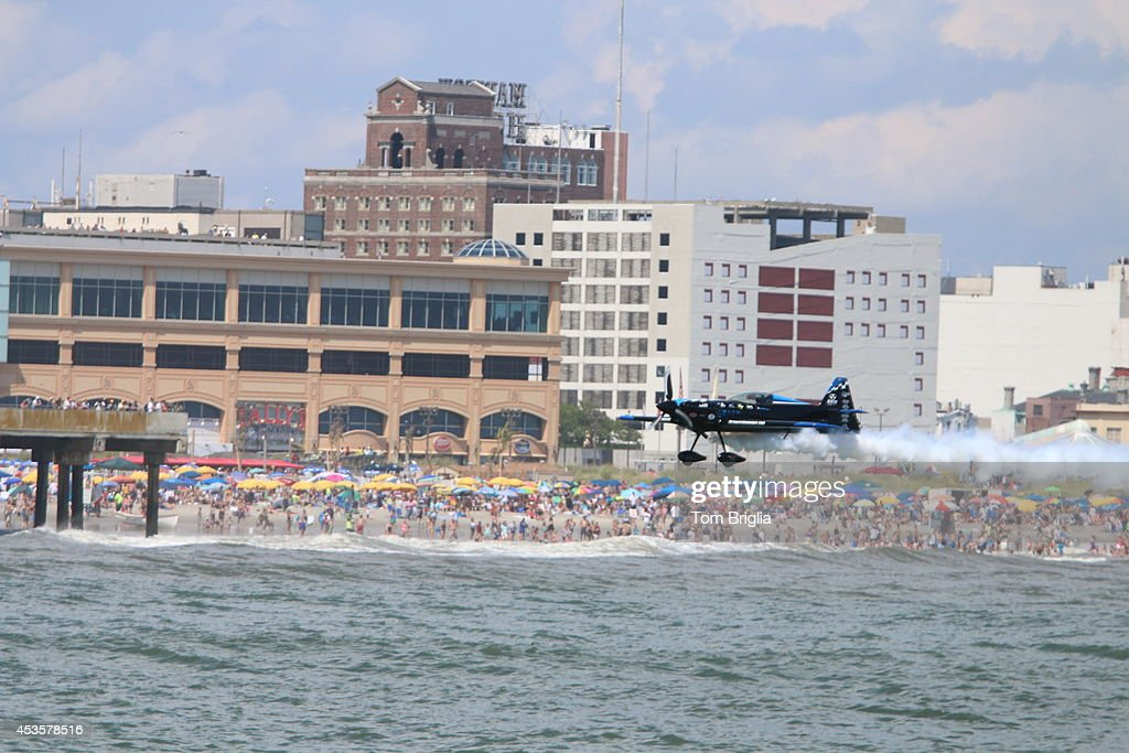 A view of The 2014 Atlantic City Airshow, Thunder Over the Boardwalk, on August 13, 2014 in Atlantic City, New Jersey.