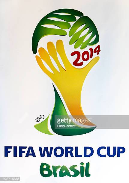 View of the 2014 FIFA World Cup Brazil Official Emblem during its launching ceremony on July 8 2010 in Johannesburg South Africa