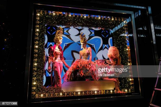 A view of the 2017 Bloomingdale's Holiday Windows Unveiling at Bloomingdale's on November 21 2017 in New York City