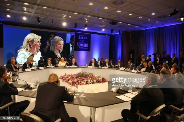 A view of the 21st Southeast European Cooperation Process Summit in Zagreb Croatia on June 30 2017