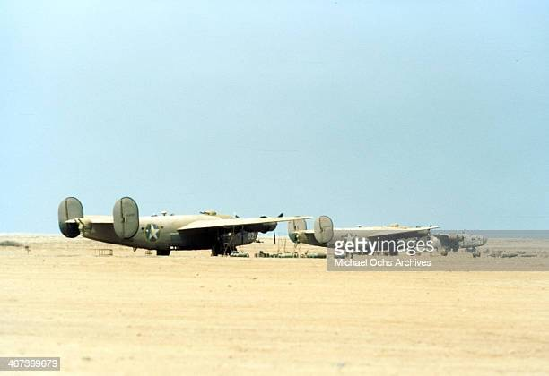 A view of the 376th Bombardment Group B24 Liberators at the US Air Force Base in Benghazi Libya