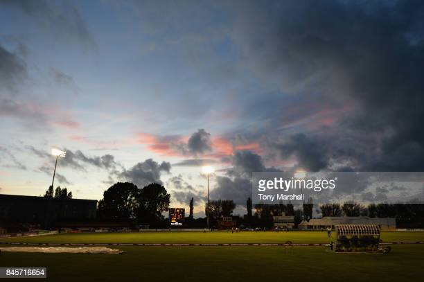A view of the 3aaa County Ground during the Final Match of the ECB National Club T20 Finals between South Northumberland Cricket Club and Wimbledon...