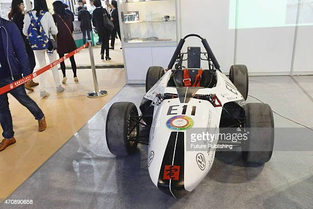 A view of the 3D printed car exhibited at China International Technology Fair on April 23 2015 in Shanghai China About 30% of the overall parts were...
