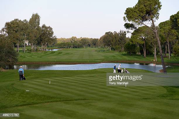 A view of the 3rd hole from the 3rd tee during the fourth round of the PGA PlayOffs at Antalya Golf Club PGA Sultan Course on November 30 2015 in...