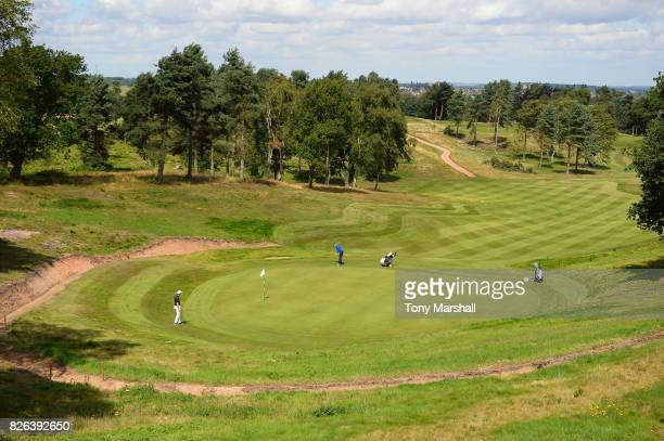 A view of the 9th green during Day Three of the Galvin Green PGA Assistants' Championship at Coxmoor Golf Club on August 4 2017 in Sutton in Ashfield...